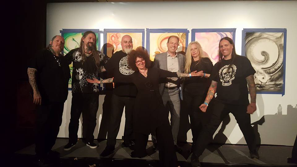 Damien Mcgrath with famous tatoo artists tintin, filip and tinite leu